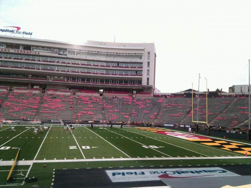Seating view for Maryland Stadium Section 7 Row o Seat 18