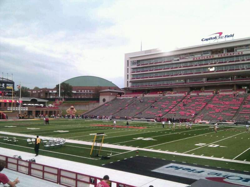 Seating view for Maryland Stadium Section 8 Row m Seat 14