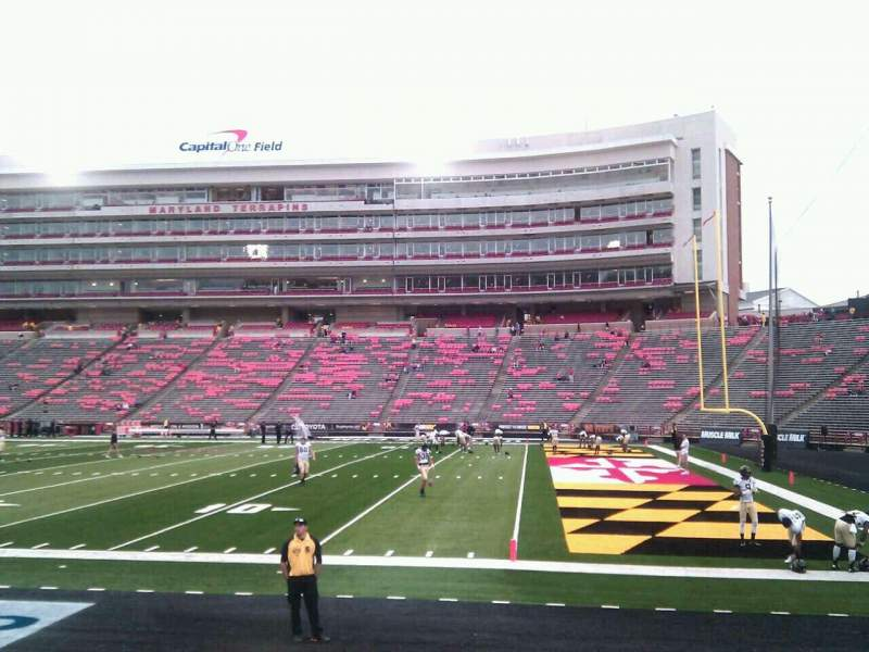 Seating view for Maryland Stadium Section 9 Row h Seat 12