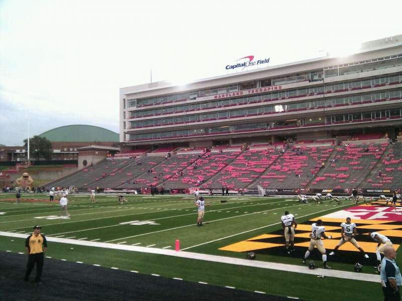 Seating view for Maryland Stadium Section 10 Row f Seat 13