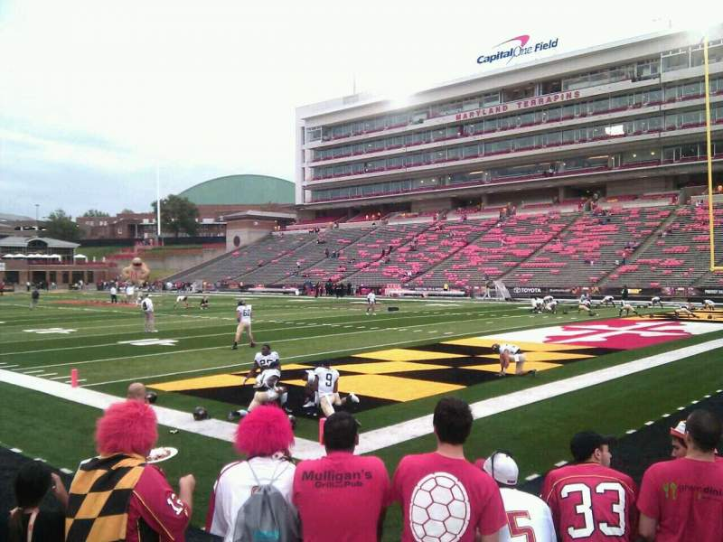 Seating view for Maryland Stadium Section 11 Row f Seat 13