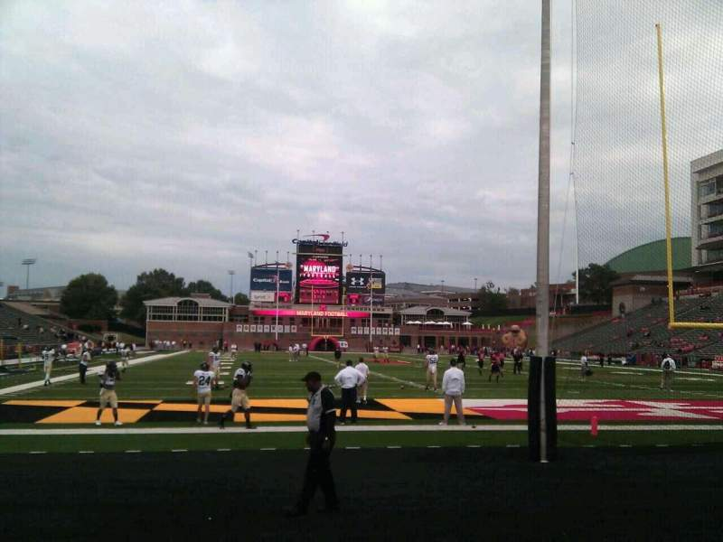 Seating view for Maryland Stadium Section 13 Row c Seat 17