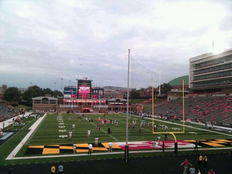 Seating view for Maryland Stadium Section 14 Row cc Seat 1