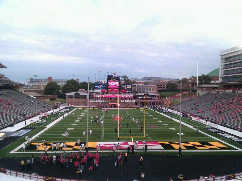 Seating view for Maryland Stadium Section 15 Row uu Seat 5