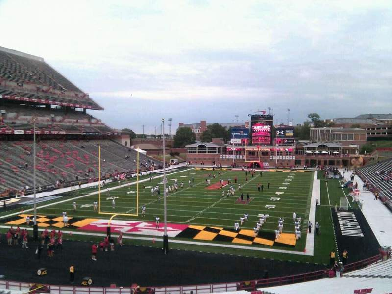 Seating view for Maryland Stadium Section 17 Row uu Seat 8