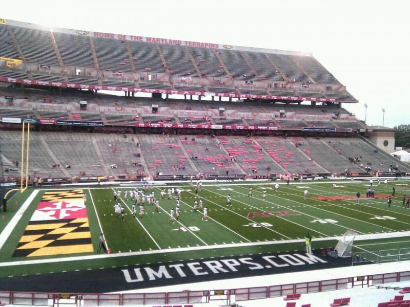 Seating view for Maryland Stadium Section 21 Row jj Seat 18
