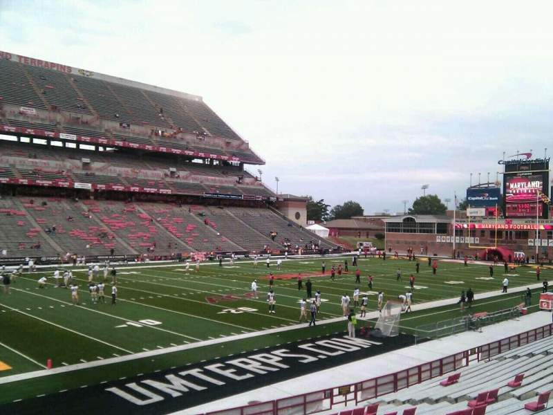 Seating view for Maryland Stadium Section 21 Row y Seat 23