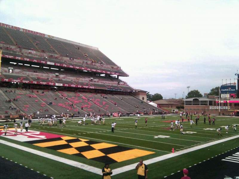 Seating view for Maryland Stadium Section 19 Row o Seat 10