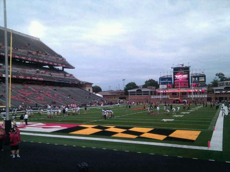 Seating view for Maryland Stadium Section 18 Row k Seat 5