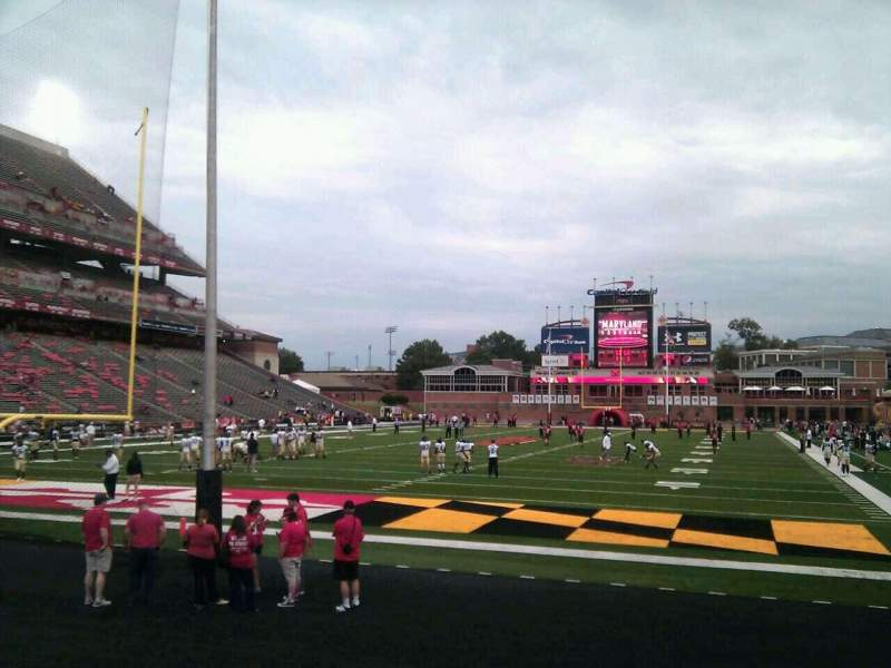 Seating view for Maryland Stadium Section 17 Row j Seat 14