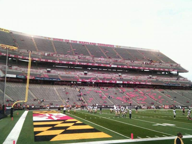 Seating view for Maryland Stadium Section 20 Row g Seat 13