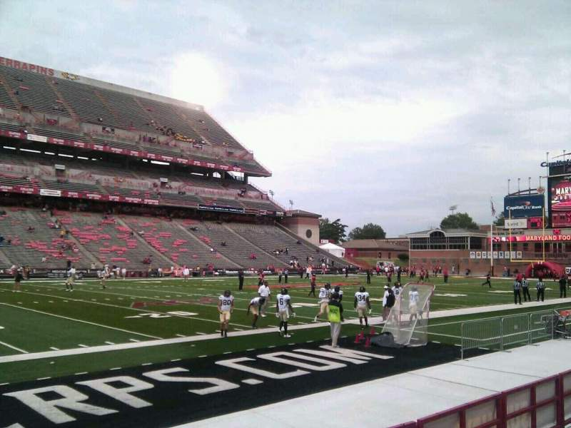 Seating view for Maryland Stadium Section 21 Row f Seat 18