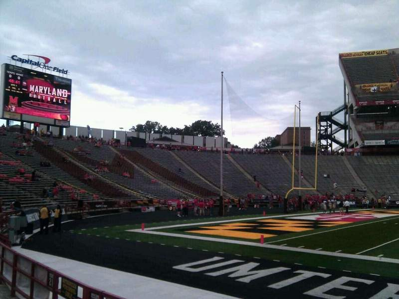 Seating view for Maryland Stadium Section 23 Row e Seat 12
