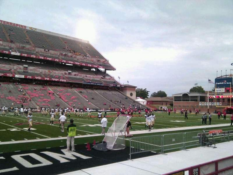 Seating view for Maryland Stadium Section 22 Row e Seat 12
