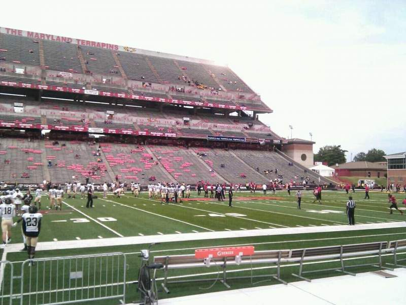 Seating view for Maryland Stadium Section 23 Row e Seat 18