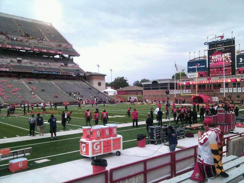 Seating view for Maryland Stadium Section 24 Row g Seat 10