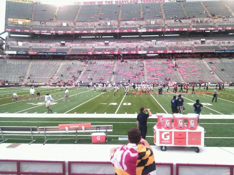 Seating view for Maryland Stadium Section 24 Row h Seat 22