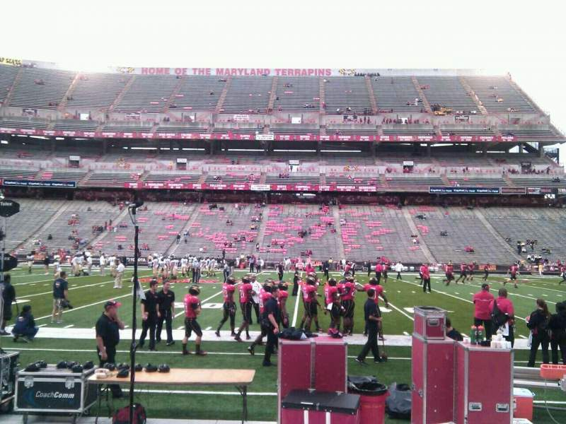 Seating view for Maryland Stadium Section 25 Row e Seat 19