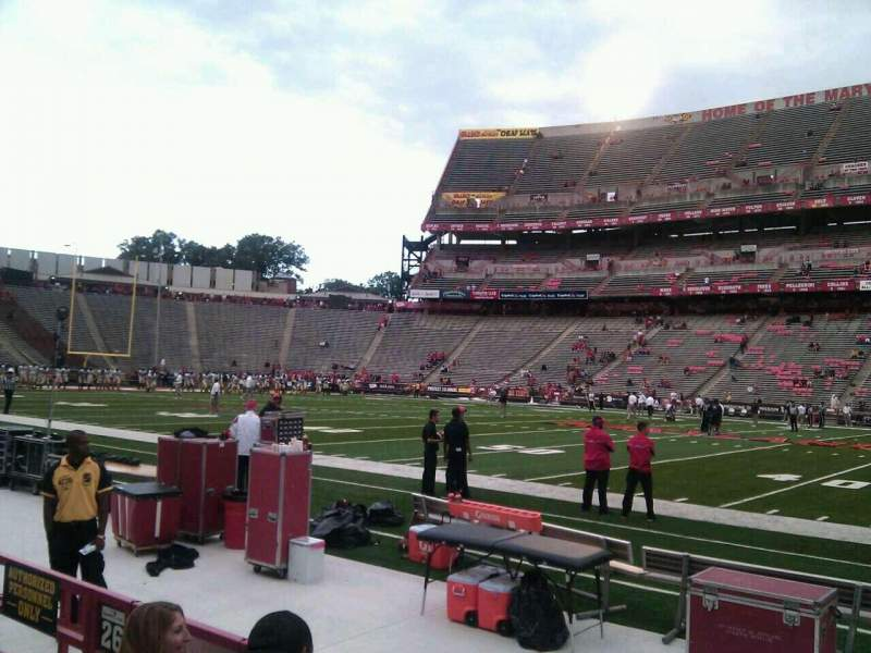 Seating view for Maryland Stadium Section 26 Row d Seat 10