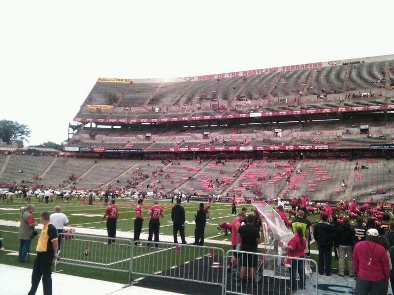 Seating view for Maryland Stadium Section 27 Row d Seat 14