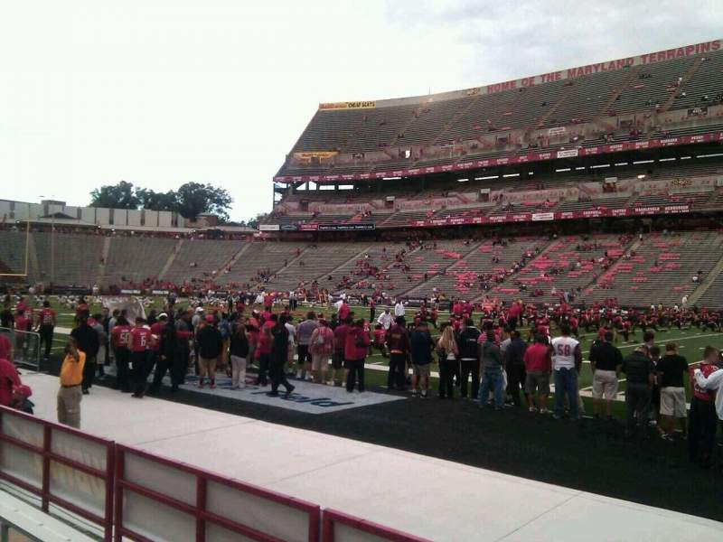 Seating view for Maryland Stadium Section 28 Row d Seat 25