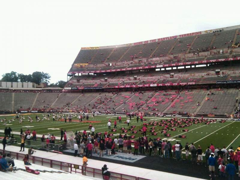 Seating view for Maryland Stadium Section 28 Row u Seat 30