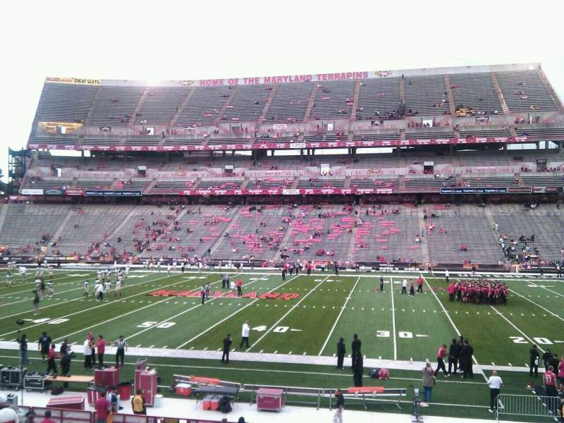 Seating view for Maryland Stadium Section 26 Row cc Seat 17