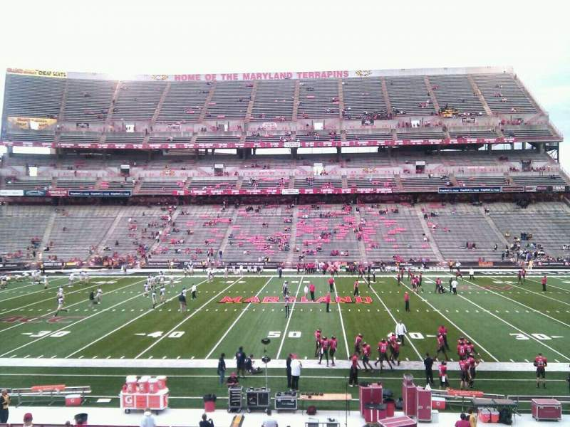 Seating view for Maryland Stadium Section 25 Row ff Seat 14