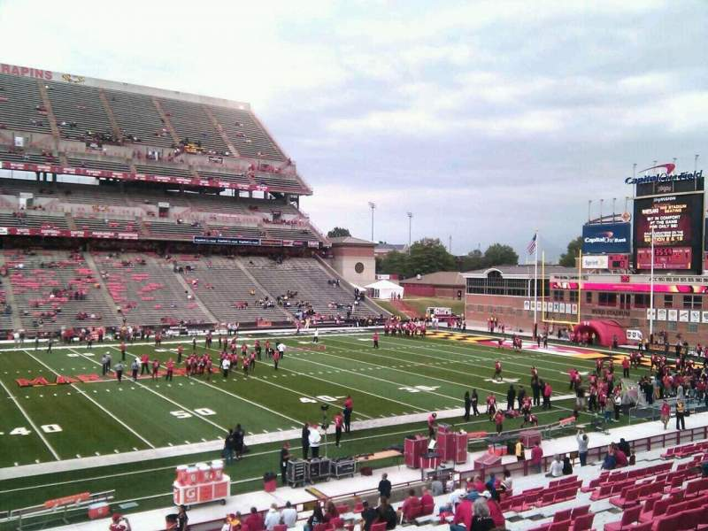 Seating view for Maryland Stadium Section 24 Row gg Seat 4