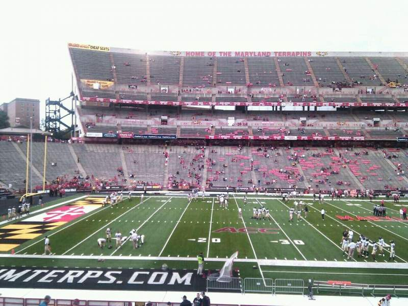 Seating view for Maryland Stadium Section 23 Row jj Seat 10