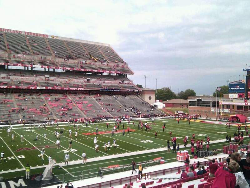 Seating view for Maryland Stadium Section 22 Row jj Seat 20