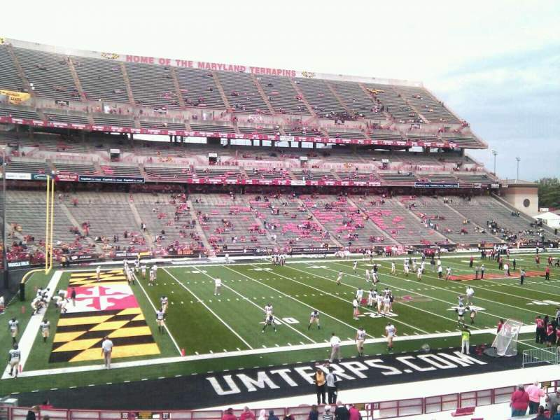 Seating view for Maryland Stadium Section 22 Row hh Seat 12