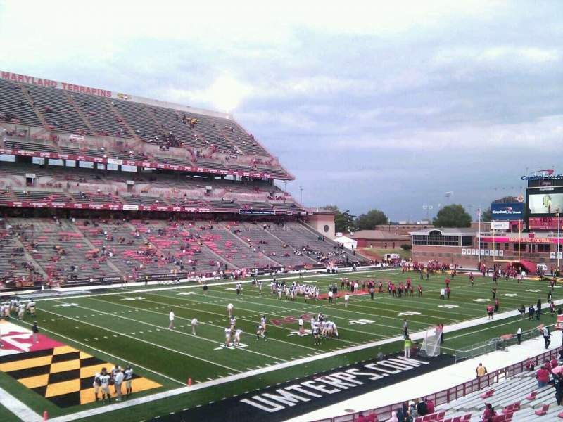 Seating view for Maryland Stadium Section 20 Row ll Seat 9