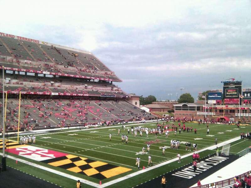 Seating view for Maryland Stadium Section 19 Row jj Seat 11
