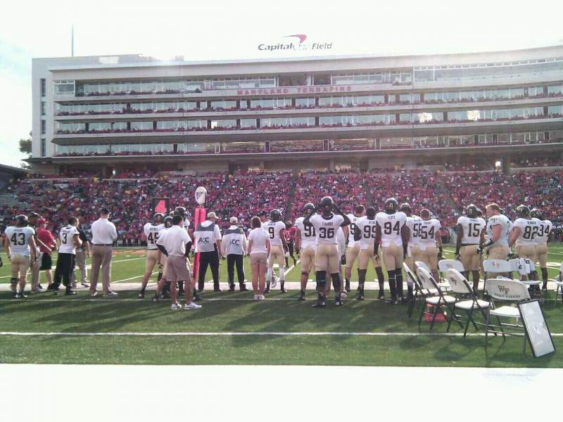 Seating view for Maryland Stadium Section 6 Row a Seat 17