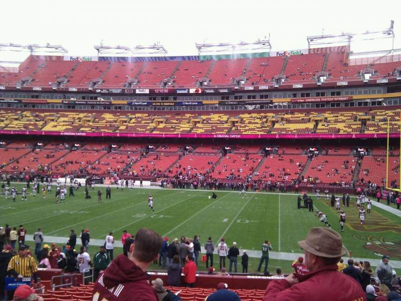Seating view for FedEx Field Section 140 Row 18 Seat 13