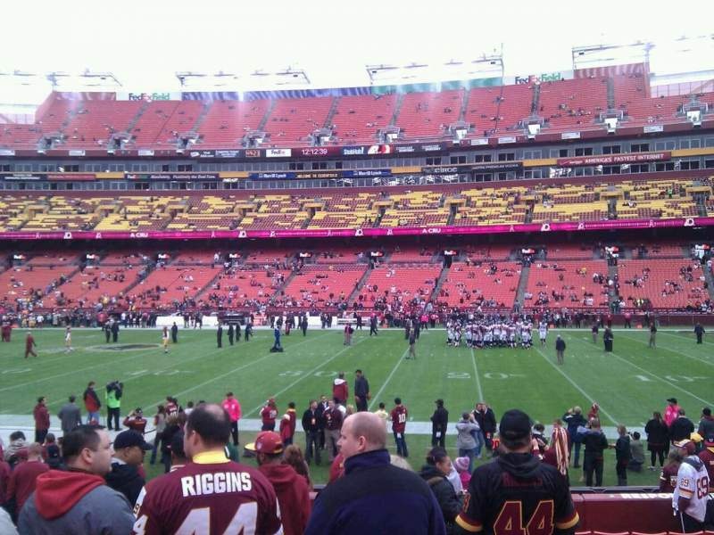 Seating view for FedEx Field Section 141 Row 13 Seat 18