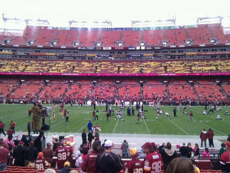 Seating view for FedEx Field Section 142 Row 14 Seat 10