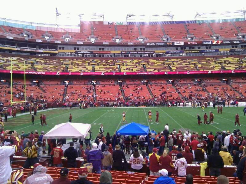 Seating view for FedEx Field Section 103 Row 14 Seat 10