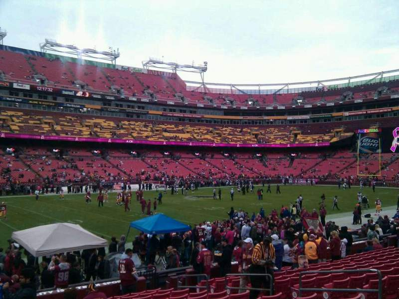 Seating view for FedEx Field Section 104 Row 14 Seat 10