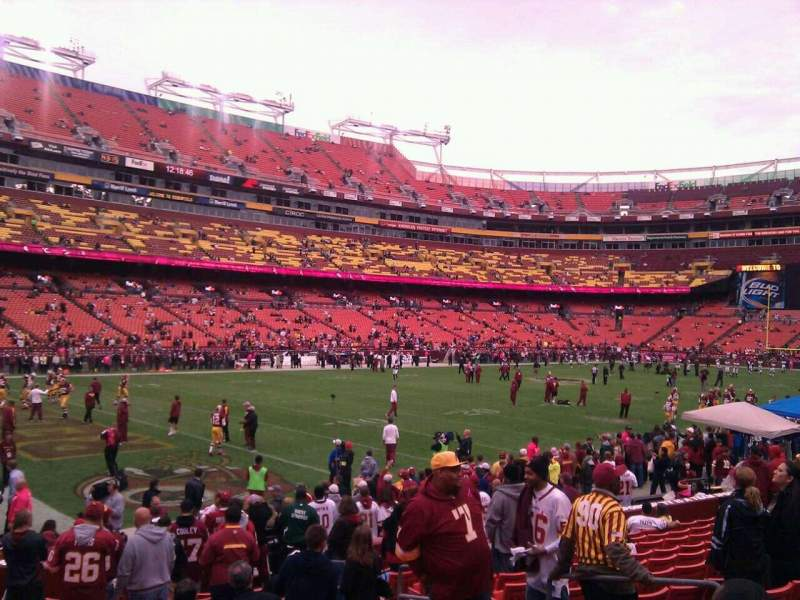 Seating view for FedEx Field Section 106 Row 16 Seat 10