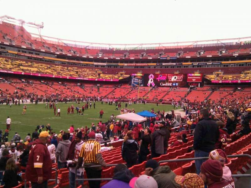 Seating view for FedEx Field Section 107 Row 16 Seat 10