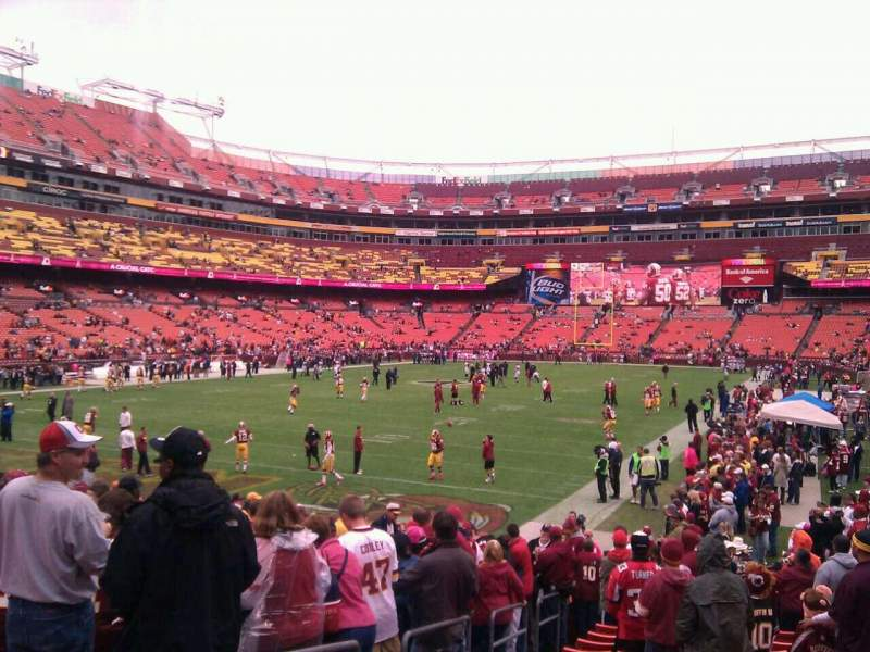 Seating view for FedEx Field Section 109 Row 16 Seat 10