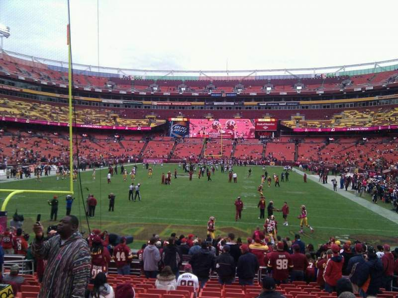 Seating view for FedEx Field Section 110 Row 16 Seat 10