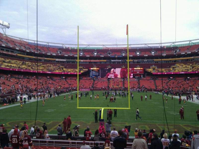 Seating view for FedEx Field Section 111 Row 16 Seat 10
