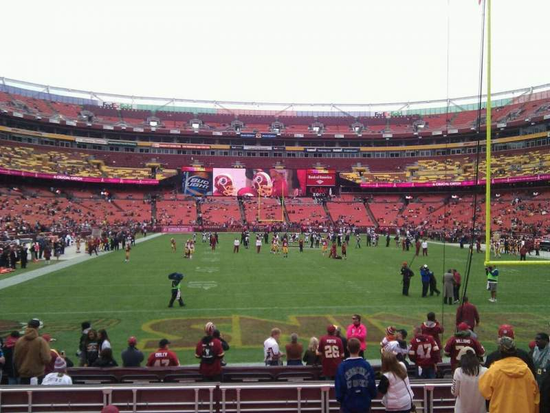 Seating view for FedEx Field Section 112 Row 11 Seat 10