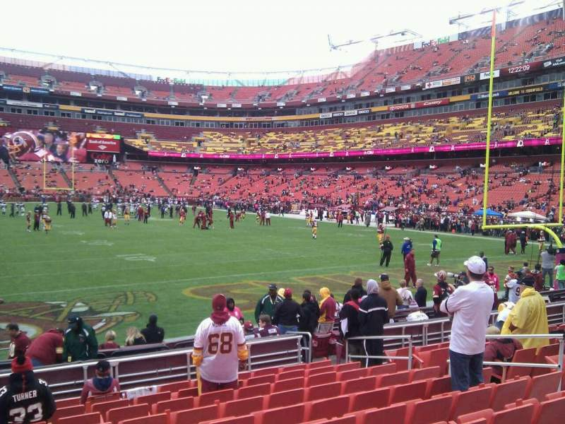 Seating view for FedEx Field Section 113 Row 11 Seat 10