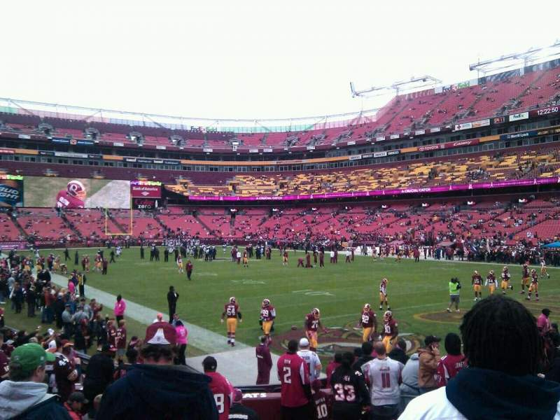 Seating view for FedEx Field Section 114 Row 11 Seat 10