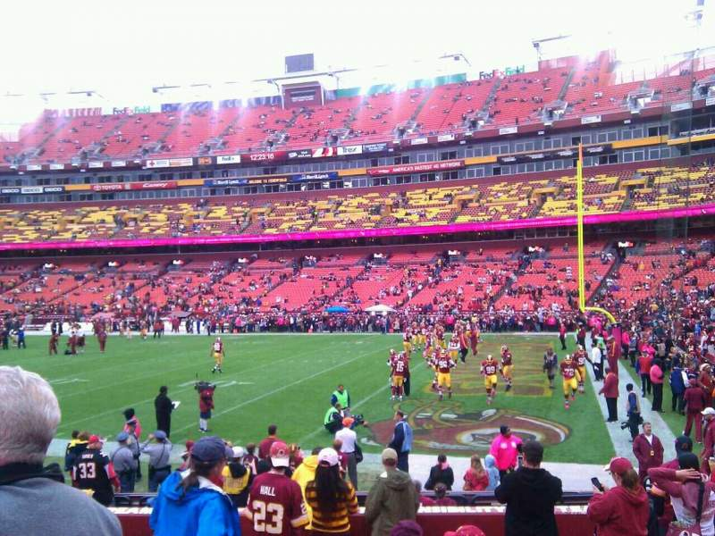 Seating view for FedEx Field Section 117 Row 11 Seat 10