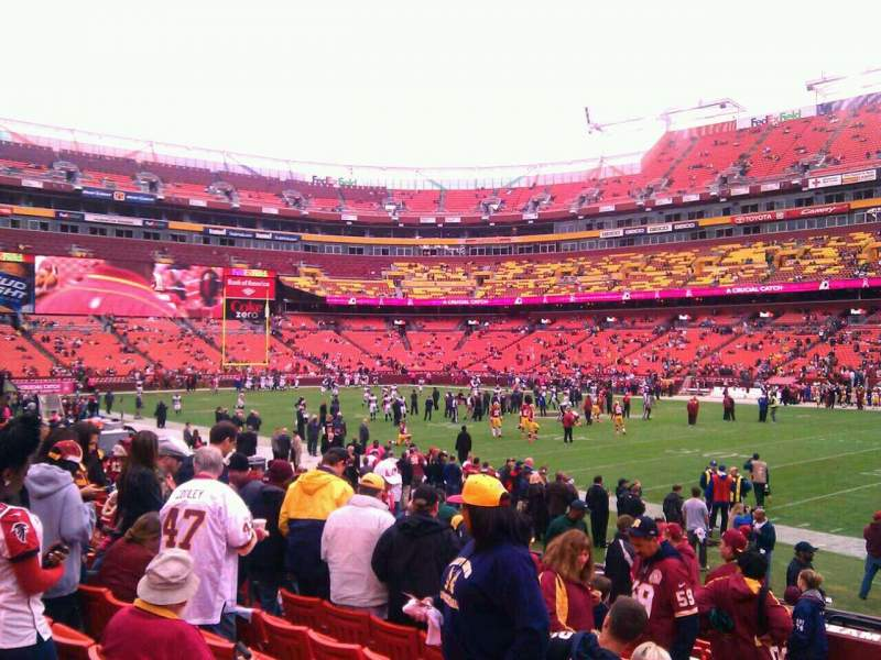 Seating view for FedEx Field Section 118 Row 11 Seat 10